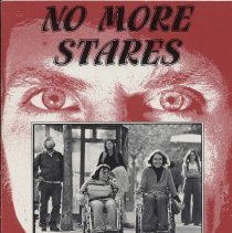 """Image of HV1565 .C37 1982 - Book: """"No More Stares"""" By The Disability Rights Education and Defense Fund, Inc. Conceived and developed by Ann Cupolo Carrillo, Katherine Corbett, and Victoria Lewis. """"No More Stares breaks through myths and ignorance about disability and women to establish new perspectives and provide realistic role models. It is a powerful account of the personal and social experiences of disabled women from around the country, representing a wide range of disabilities and ethnic backgrounds, who want to share their lives with others. No More Stares is essential reading for disabled teenagers, their parents, and the professionals who work with them. The book combines a series of quotes and photographs of disabled girls and women that concerns the issues most affecting their lives with the fictional narrative of a young woman who is trying to cope with disability and adolescence at the same time. Whether you are disabled or not, you will feel personally enriched by reading this unique book."""""""