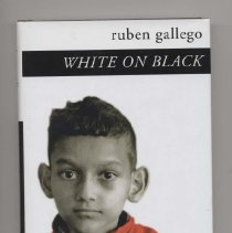 """Image of Book:  """"White on Black"""" by Ruben Gallego.  Translated from Russian by Marian Schwartz.  The personal account of a Ruben Gallego who was born with Cerebral Palsy in Moscow and his experience inside of Soviet institutions and hospitals."""