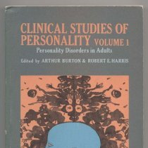 Image of RC465 .B83 1966 - Clinical Studies Of Personality (Volume 1), edited by Arthur Burton & Robert E. Harris. Pref. to the Torchbook ed. by Arthur Burton