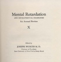 Image of RC570 .M38 1978 - Mental Retardation  And Developmental Disabilities An Annual Review Edited by Joseph Wortis, M.D.