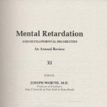 Image of RC570 .M38 1980 - Mental Retardation  And Developmental Disabilities An Annual Review Edited by Joseph Wortis, M.D.