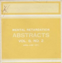 Image of RC570 .M4 1971 - Mental Retardation Abstracts