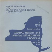 Image of Report of the New York State Planning Committee on Mental Disorders Volume V