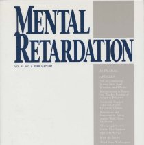 Image of RC569.7 .M46 1997 - Mental Retardation Vol. 35 , No. 1  February 1997 A Journal of Policy, Practices, and Perspectives American Association on Mental Retardation