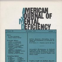 Image of RC326 .A415 1973 - American Journal of Mental Deficiency