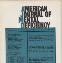 Image of RC326 .A415 1975 - American Journal of Mental Deficiency