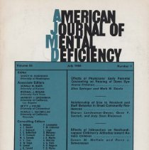 Image of RC326 .A415 1980 - American Journal of Mental Deficiency