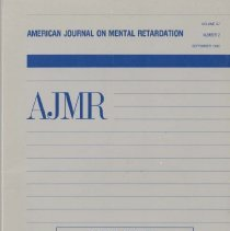 Image of RC326 .A415 1992 - American Journal on Mental Retardation Volume  97 , No. 2 , pp.  125-250  September 1992  Special Issue On The Relation Of Communication And Language Development To Mental Retardation Guest Editors: Steven F. Warren and Leonard Abbeduto
