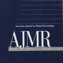 Image of RC326 .A415 1996 - American Journal on Mental Retardation Volume  100 , No.4  , pp.  335-440  January 1996 Mental Retardation in a Birth Cohort, 1976-1980, Rochester, Minnesota