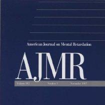 Image of RC326 .A415 1997 - American Journal on Mental Retardation Volume  102 , No. 3 , pp.  211-318  November 1997