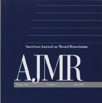 Image of RC326 .A415 1998 - American Journal on Mental Retardation Volume  103 , No. 1 , pp.  1-104  July 1998 In Memorium Sue Allen Warren: 1917-1997