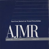 Image of RC326 .A415 1999 - American Journal on Mental Retardation Volume  104 , No. 1 , pp.  1-106   January 1999 Self-Reported Body Rocking and Other Habits in College Students