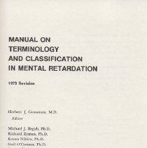 Image of RC570 .M26 1973 - Manual On Terminology And Classification In Mental Retardation 