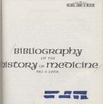 Image of History of Medicine Bib.