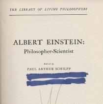 Image of QC16.E5 S3 1951 - Albert Einstein: Philosopher-Scientist