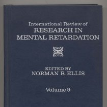 Image of RC570 .I5 1978 - International Review of Research In Mental Retardation  Volume 9