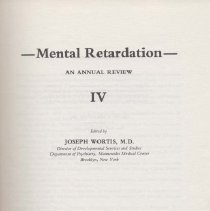 Image of RC570 .M38 1972 - Mental Retardation  