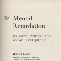 Image of Mental Retardation