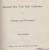 Image of Sixteenth New York State Conference of Charities and Correction