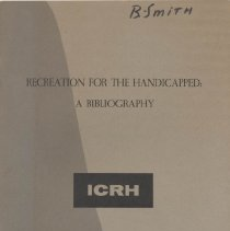 Image of Z 7511 .I5  1965 - Recreation For The Handicapped: A Bibliography