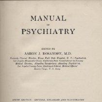 Image of Manual Psychiatry