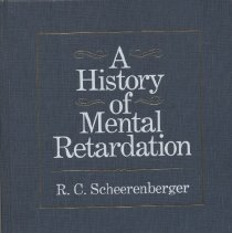 Image of RC570 .S25 1983 - A History of Mental Retardation