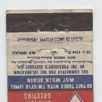 Image of 2009.39.1 - matchcover