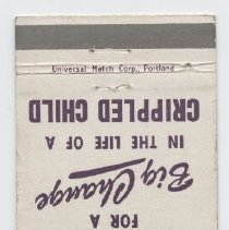 Image of 2009.39.9 - matchcover