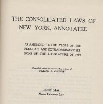 Image of Consolidated Laws of New York, Annotated
