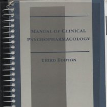 Image of RC483 .S37 1997 - Manual of Clinical Psychopharmacology , Third Edition 