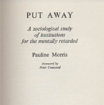 Image of HV3008.G7 M6 1969 - Put Away : a socialological study of institutions for the mentally retarded  by Pauline Morris 
