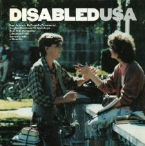 Image of HD7256.U5 D57 1985 - Disabled USA 1985/3 Deaf Actors in McDonald's Commercial...Tougher Standards for Workshops...High Tech Workstation...Campaign Press Secretary with a Disability