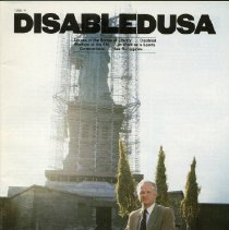 Image of HD7256.U5 D57 1985 - Disabled USA    1985/4 Access at the Statue of Liberty...Disabled Workers at the FBI...At Work as a Sports Commentator...Sex Surrogates  (two copies: First- a, Second-b)