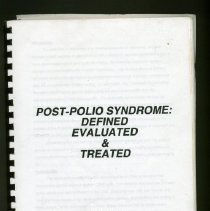 Image of Post-Polio Syndrome: Defined Evaluated & Treated   Michael Haley