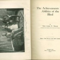 Image of The Achievements and Abilities of the Blind by Prof. James W. Welch
