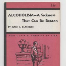 Image of Alcoholism - A Sickness That Can Be Beaten  by Alton L. Blakeskee