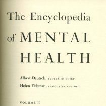 Image of RA790 .E56 1963 V2 - The Encyclopedia of Mental Health 