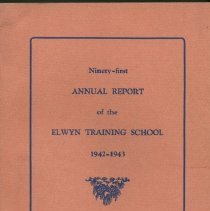Image of HV897.P4 T7 1944 - Ninety-first Annual Report of the Elwyn Training School 1942-1943