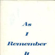 Image of HV3006.T352 D385 1984 - As I Remember It  by Michael H. Kurek  A Brief History of The Early Beginnings of the Association For Retarded Citizens of Davidson County, Tennessee