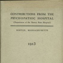 Image of Contributions From The Psychopathic Hospital