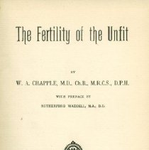 Image of The Fertility of the Unfit