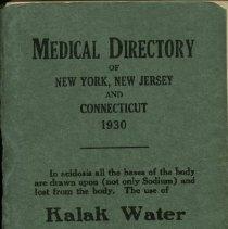 Image of Medical Directory of New York, New Jersey and Connecticut  1930  Published by the Medical Society of the State of New York   Volume XXXII