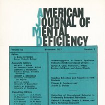 Image of RC326 .A415 1977 - American Journal of Mental Deficiency