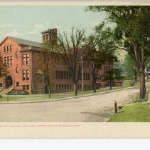 Image of Franklin Street School and West Street, South Norwalk,  Conn.