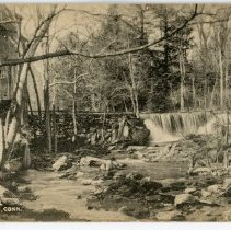 Image of Waterfall at Silvermine, Conn.