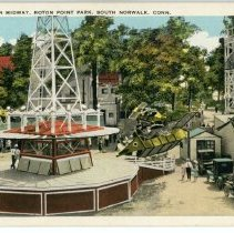 Image of Amusements on Midway, Roton Point Park, South Norwalk, Conn.