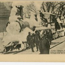 Image of First Train to Arrive in South Norwalk, Conn. after the Blizzard of 1888.