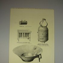 Image of Drawing of Bath and Candle Box - 1975 C