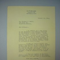 Image of Letter for Michael P Smith - 1951/01/30