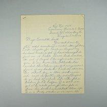 Image of Letter to Mayor Bernadette Smith - 1955 C
